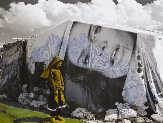 Refugee camp in Bekaa valley by Jocelyne Saab