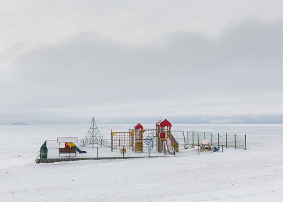 Playground on the bank of Baikal on the edge of the island of Olkhon by Elena Anosova